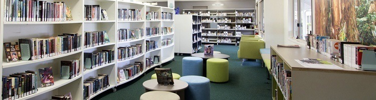 Inside View of Kawana Library's New Shelving