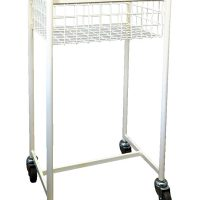 One Tier Mobile Book Basket Trolley