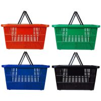 Shopping Baskets Blue Black Red and Green