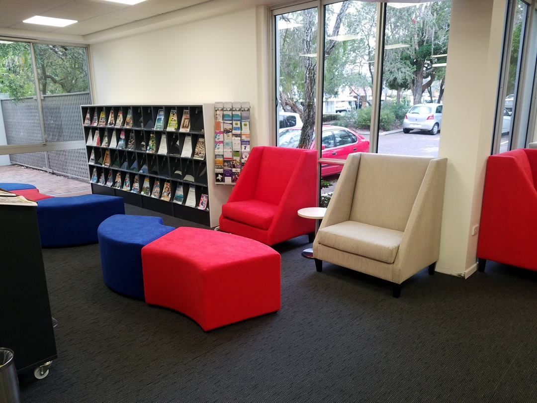 custom furniture for relaxed reading