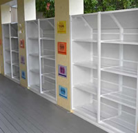 Custom Made Student Bag Racks on School Verandah