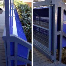 Outdoor bag racks installed on verandah