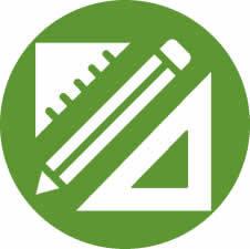 Setsquare and Pencil Icon