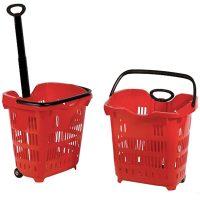 Baskets on wheels