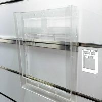 A4 brochure holder with clips BH8010