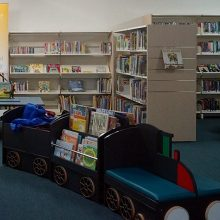 Children's Train Style Seating Area