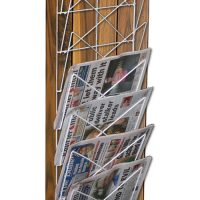 Wire Frame Newspaper and Magazine Display Rack