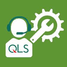 QLS Logo with Service and Support Clipart Graphic