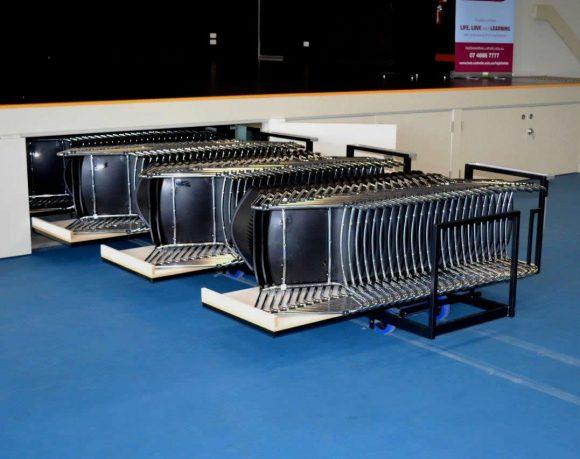 Chairs on Under Stage Storage Platform