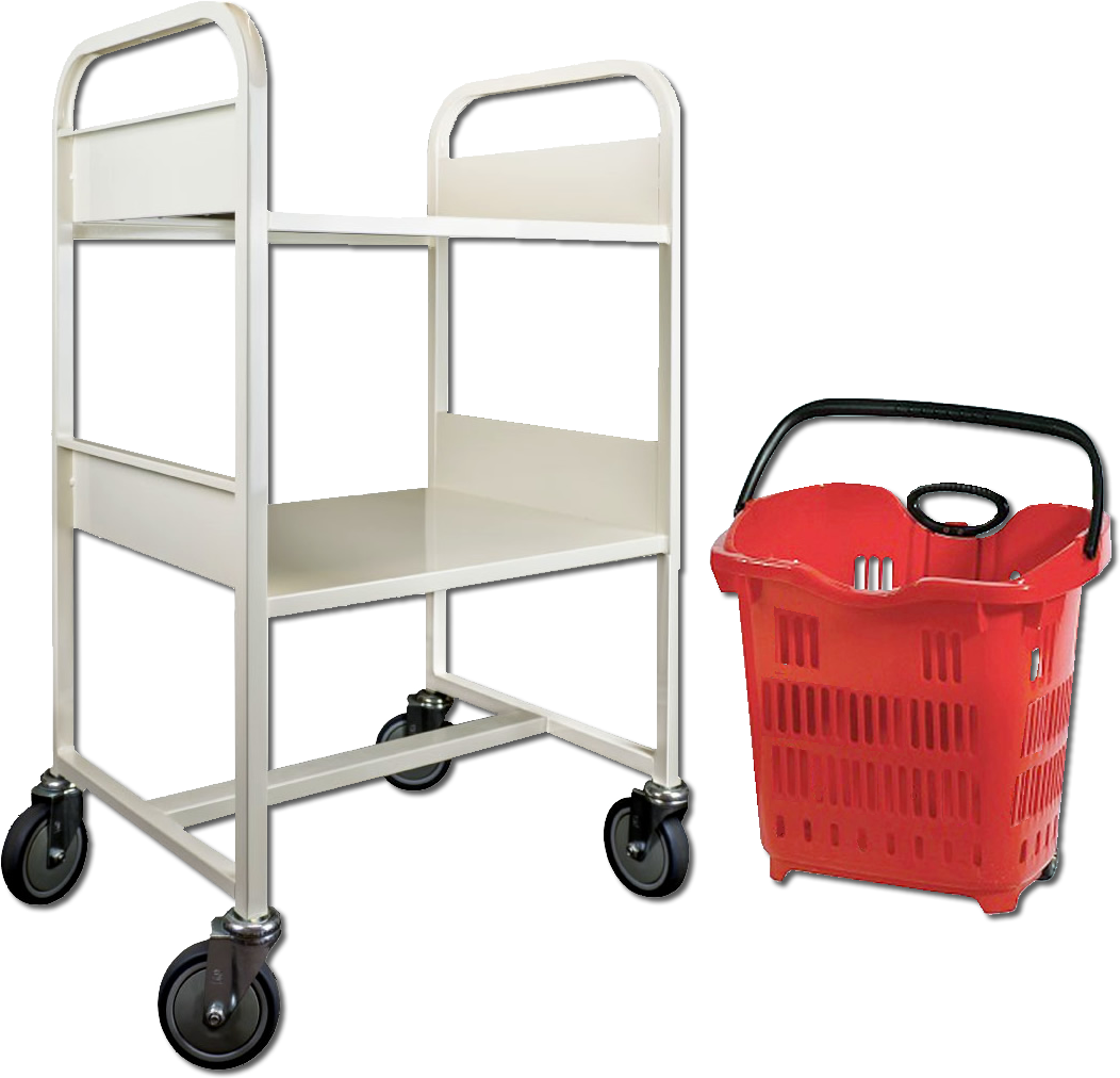 Library Book Trolley and Basket