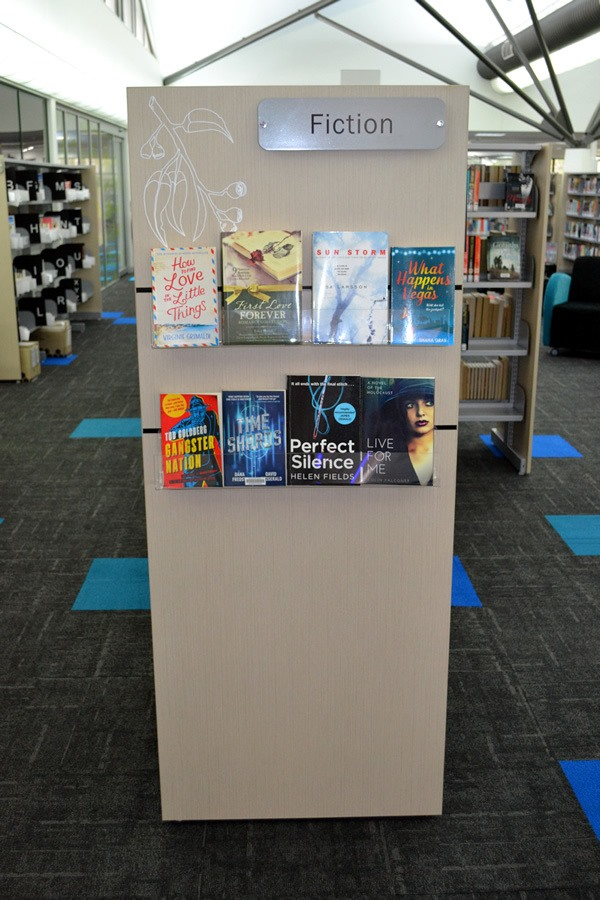 Shelving End Panel with Suggested Books