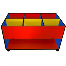 Multi-Coloured Easy Reading Box 6 Compartment with Shelf