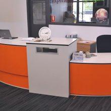 Service Desk with Book Return Chute