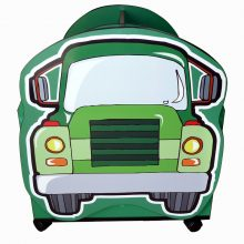 Truck Character Easy Reading Box Green