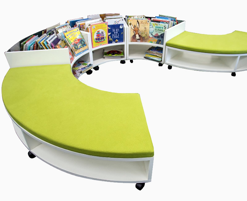 Curved Bench Seat and Easy Boxes