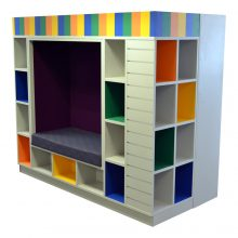 Reading Nook with Box Shelving