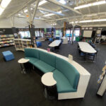 Northbridge Combination Shelving Seating in Foreground