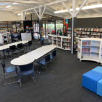 Northbridge Shape tables and Joinery Shelving