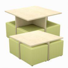 Square Ottoman Table Set CH4NOTMST
