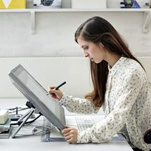 Female CAD Designer at Work