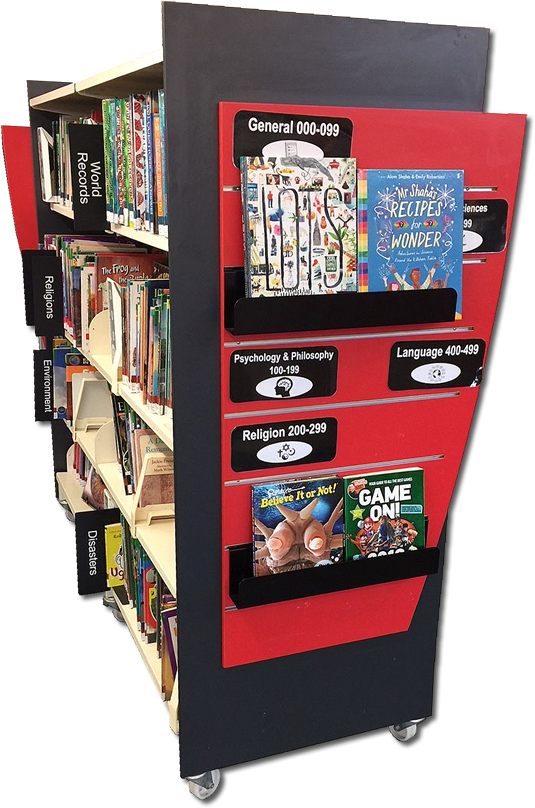 QWall Featured End Panel with Shelf Signage