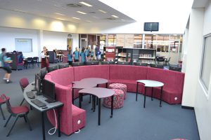 Upper Coomera State College Curved Ottomans and Tables