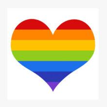 Rainbow Heart Genre Label LASLEQ3