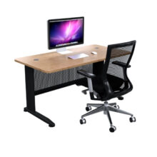 C Space Single Seat Oak Black Frame and Modesty Panel