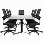 Conference Table with chairs 2400 x 1200
