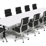Conference Table with chairs 2400 x 1200 view 2