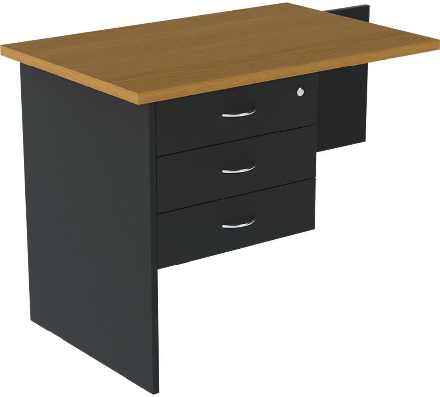 Desk return lockable drawer