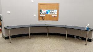 Gordon White Library Mackay Custom Curved Bench