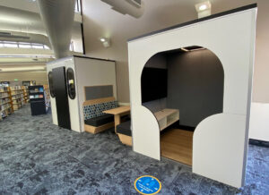 Gordon White Library Mackay Custom Pod Spaces and Booth Seating