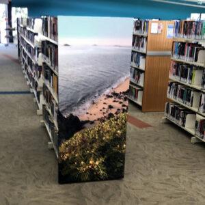 Gordon White Library Mackay Printed Shelving End Panel