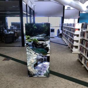 Gordon White Library Mackay Printed Shelving End Panel - waterfall