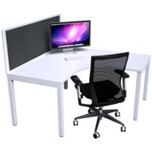Strata Corner Workstation White