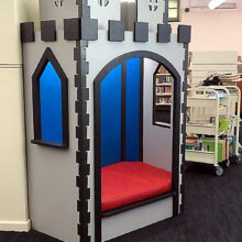 Castle Themed Reading Nook