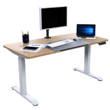 eco height adjustable desk dressed