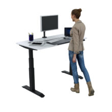 primo height adjustable desk standing position