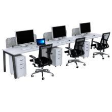 Lean 3 Inline Single Sided Desk Dressed