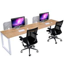 Loop Desk 2 Person Single Side Dressed