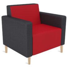 Koosh Lounge Single Timber Legs